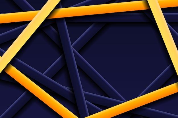 Abstracte geometrische lijnachtergrond met gouden lijneffect