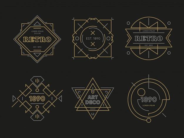 Abstracte geometrische logo's