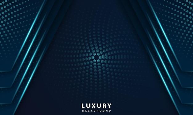 Abstracte geometrische marineblauwe abstracte achtergrond met metallic blauw licht