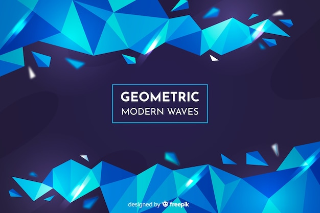 Abstracte geometrische modellenachtergrond