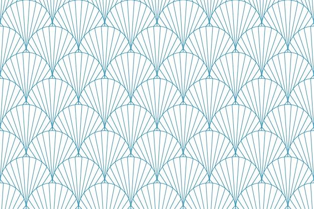 Abstracte geometrische naadloze blauwe lijn lijnpatroon