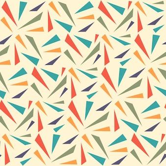 Abstracte geometrische naadloze patroon met driehoek. driehoek naadloze patroon achtergrond