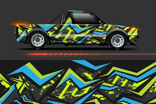 Abstracte geometrische racing achtergrond voor vinyl wrap en sticker