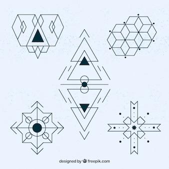 Abstracte geometrische tattoo collectie
