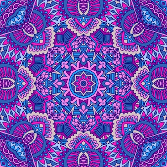 Abstracte geometrische vector betegelde boho etnische naadloze patroon sier