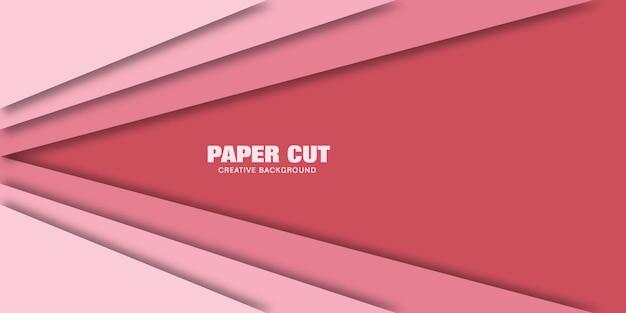Abstracte geometrische vector met roze lijnen in 3d-stijl.