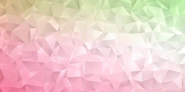 Abstracte geometrische veelhoek achtergrondbehang. headercover met driehoekige laagpolige zachte pastelkleur