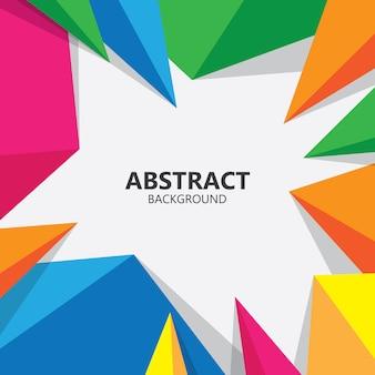 Abstracte geometrische veelhoekige vorm achtergrond illustratie