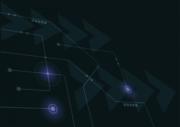 Abstracte geometrische verbinden lijnen en punten. eenvoudige grafische technologie achtergrond.