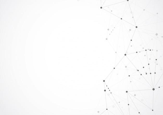 Abstracte geometrische verbindende punten en lijnen