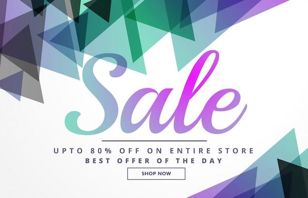 Abstracte geometrische verkoop banner ontwerp sjabloon voor promotie