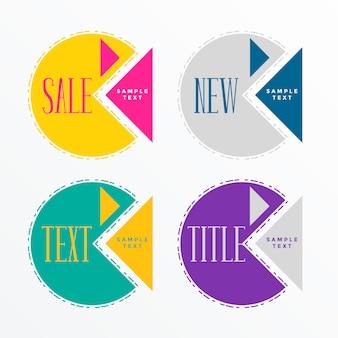 Abstracte geometrische verkoop labelontwerp