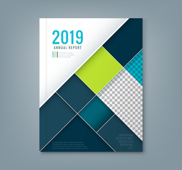 Abstracte geometrische vierkante vorm ontwerp achtergrond sjabloon voor het bedrijfsleven jaarverslag boekomslag brochure flyer poster