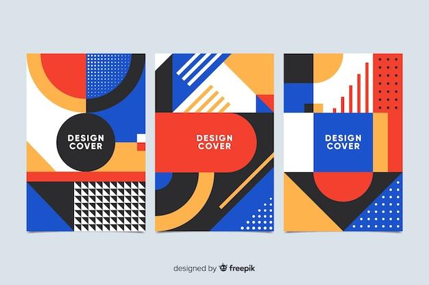 Abstracte geometrische vorm dekking collectie