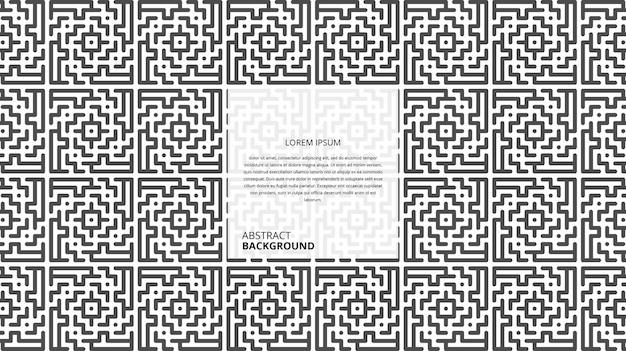 Abstracte geometrische vorm lijnen achtergrond met voorbeeldtekstsjabloon