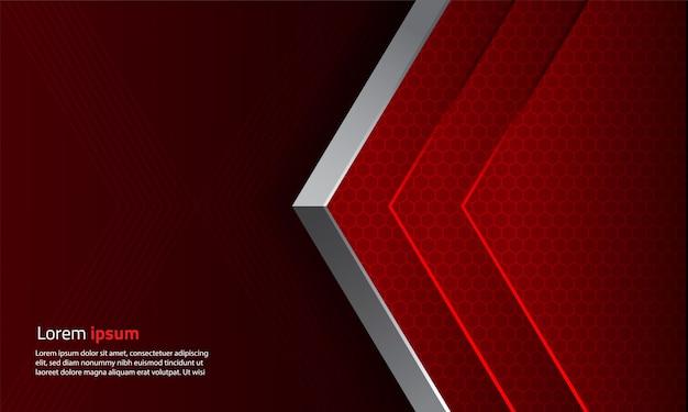 Abstracte geometrische vorm zeshoekige achtergrond