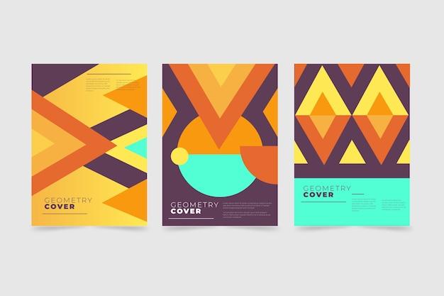 Abstracte geometrische vormen dekken collectie