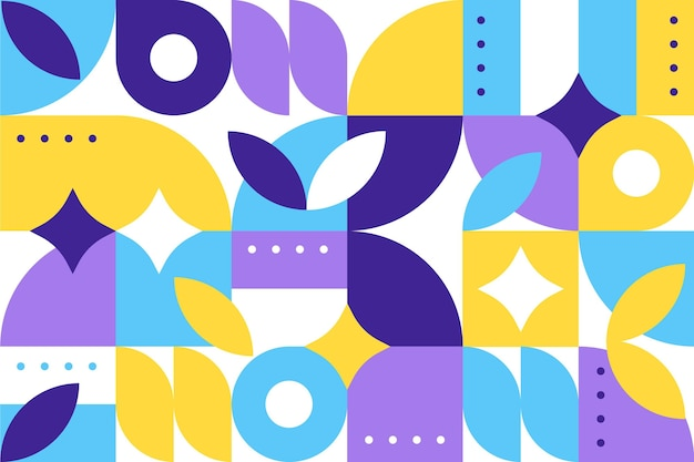 Abstracte geometrische vormen in plat ontwerp Gratis Vector