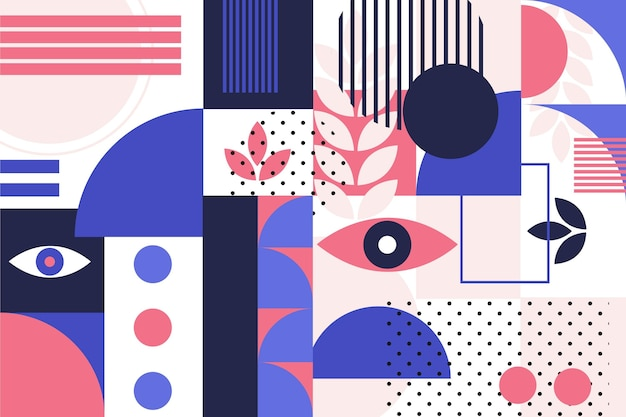 Abstracte geometrische vormen in plat ontwerp