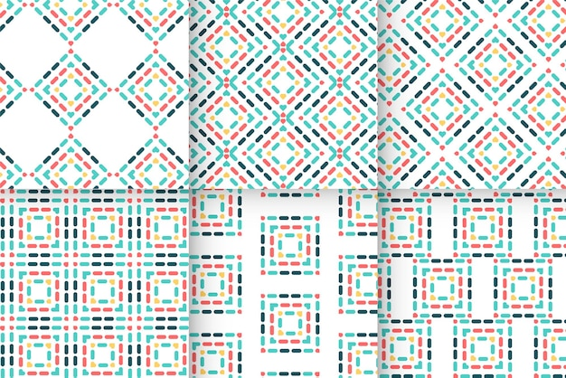 Abstracte geometrische vormen van kleurrijk modern patroon
