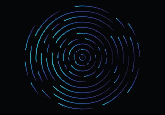 Abstracte geometrische vortex, circulaire swirl lijnen