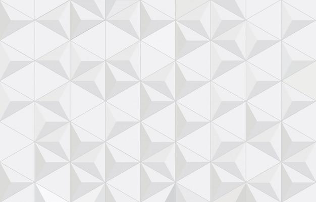 Abstracte geometrische witte en grijze achtergrond met driehoeken.