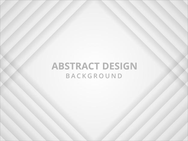 Abstracte geometrische witte en grijze achtergrond