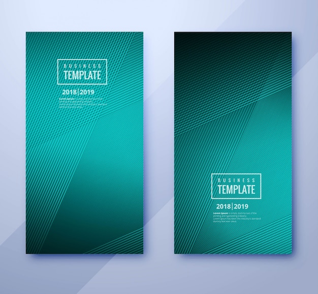 Abstracte geometrische zakelijke brochure brochure decorontwerp