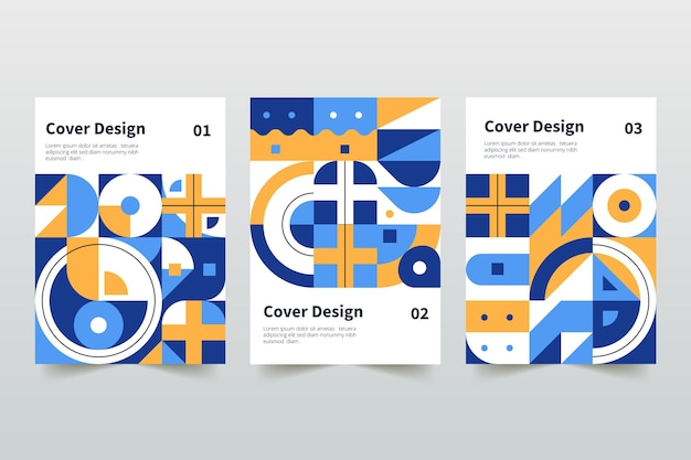 Abstracte geometrische zakelijke gekleurde covers collectie