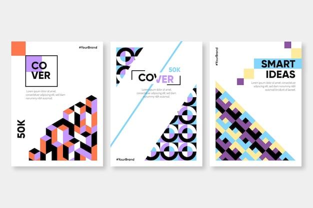 Abstracte geometrische zakelijke omslagcollectie