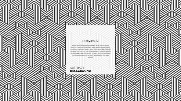 Abstracte geometrische zeshoekige vorm lijnen patroon