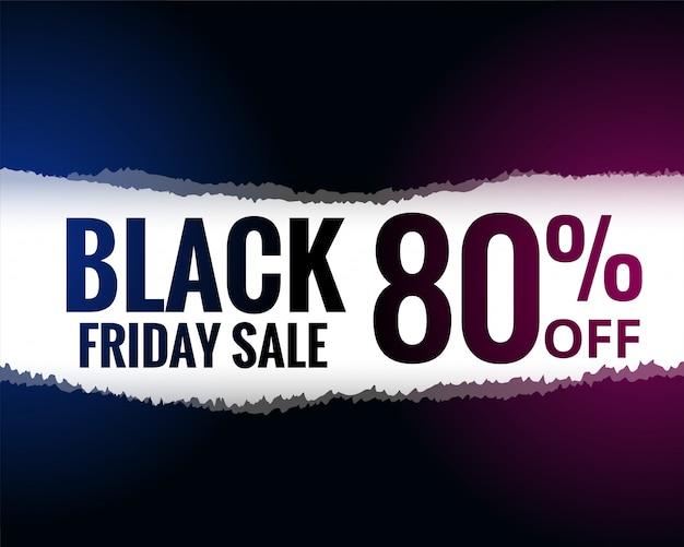 Abstracte gescheurd papier stijl zwarte vrijdag verkoop achtergrond