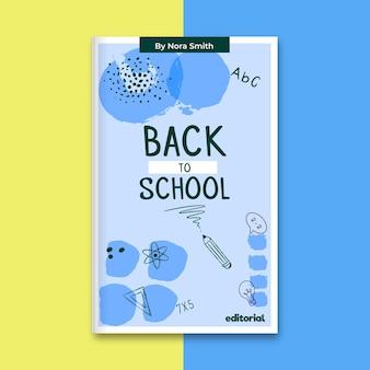 Abstracte geschilderde eenkleurige boekomslag voor het onderwijs