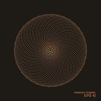Abstracte gespikkelde symmetrische gouden en bruine kleur op zwart
