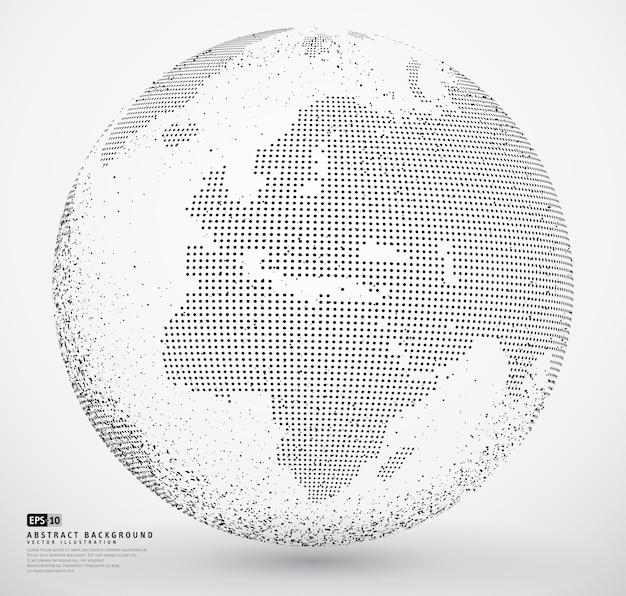 Abstracte gestippelde bol aarde