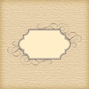 Abstracte geweven papier achtergrond en vintage frame