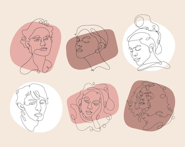 Abstracte gezichten van mensen