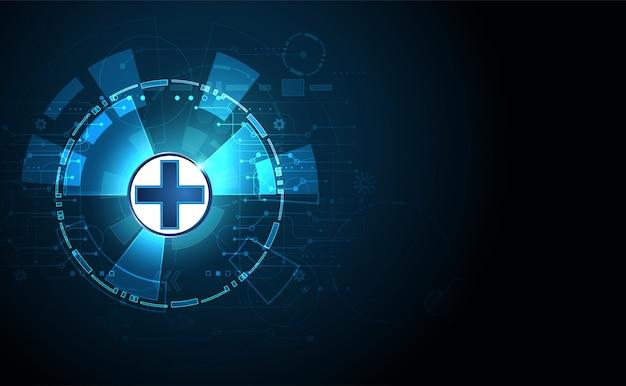 Abstracte gezondheidswetenschappen bestaan uit gezondheid plus digitale technologie