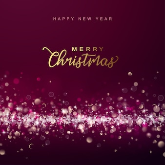 Abstracte glanzende achtergrond van kerstmis en nieuwjaar