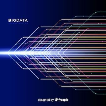 Abstracte glanzende big data-achtergrond