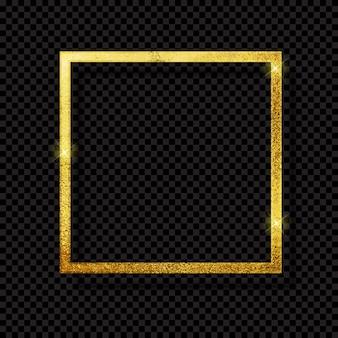Abstracte glanzende gouden frame luxe op transparante achtergrond.