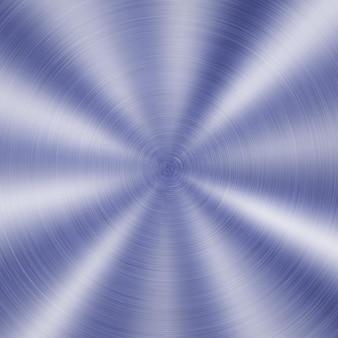 Abstracte glanzende metalen achtergrond met ronde geborstelde textuur in blauwe kleur