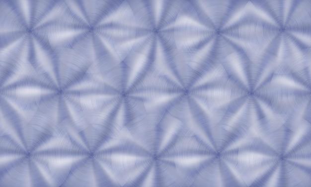 Abstracte glanzende metalen achtergrond met ronde geborstelde textuur in blauwe kleuren