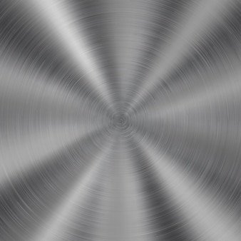 Abstracte glanzende metalen achtergrond met ronde geborstelde textuur in zilveren kleur