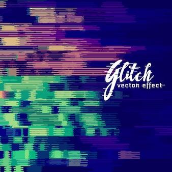 Abstracte glitch achtergrond met vervorming effect