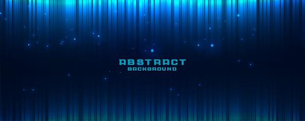 Abstracte gloeiende blauwe bannerachtergrond met verticale lijnen