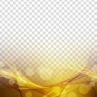 Abstracte gloeiende modieuze golf transparante achtergrond