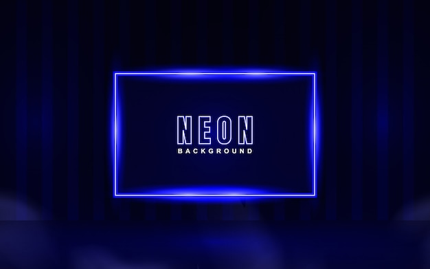 Abstracte gloeiende neon blauwe achtergrond