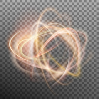 Abstracte gloeiende ring op transparante achtergrond. lichteffect vuurcirkel. en omvat ook