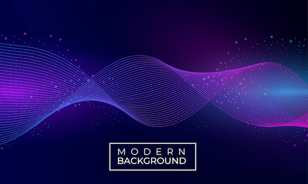 Abstracte golf moderne achtergrond met deeltje